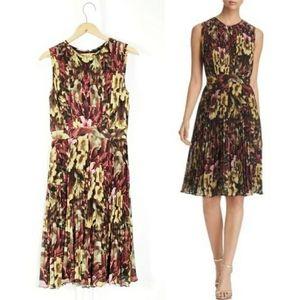 Catherine Malandrino Desree Pleated Floral Dress